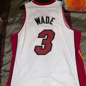 "AUTHENTIC stitched on ""Dwayne Wade"" Jersey!"